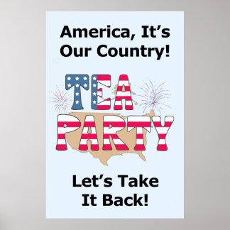 Tee-Party: Nehmen Sie ihn zurück! Poster