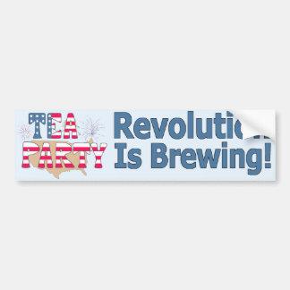 Tee-Party: Revolution braut! Autoaufkleber