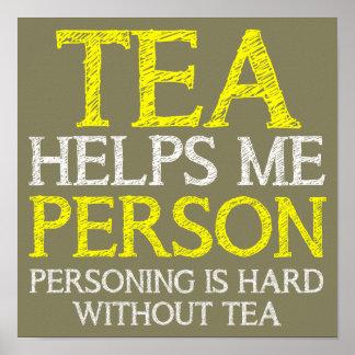 Tee-Person Personing lustiges Plakat-Zeichen Poster