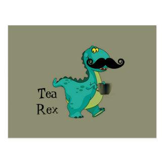 Tee Rex lustige Dinosaurier-Cartoon-Anspielung Postkarte