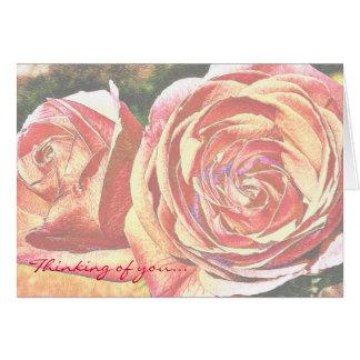 Tee-Rosen vom Garten Karte