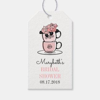 Tee-Schalen-Brautparty-Geschenk-Umbauten Geschenkanhänger