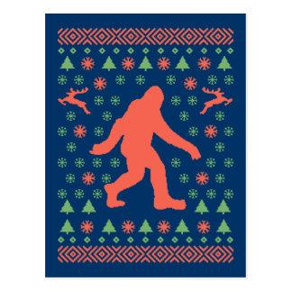 Tee - shirt de chandail de vacances de Bigfoot Cartes Postales