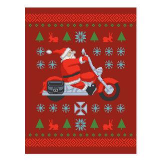 Tee - shirt de chandail de vacances de cycliste cartes postales