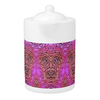 Tee-Topf: Gespenstisches Gesicht