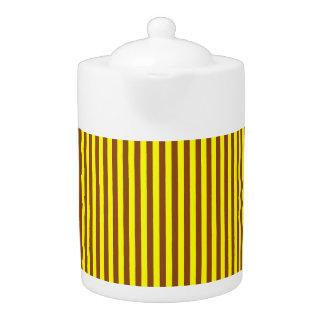 Tee-Topf: Goldruten- und gelbe vertikale Streifen