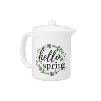 Teekanne - hallo, Frühling