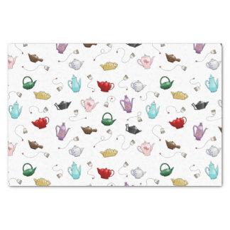 Teekanne-Muster-Seidenpapier Seidenpapier