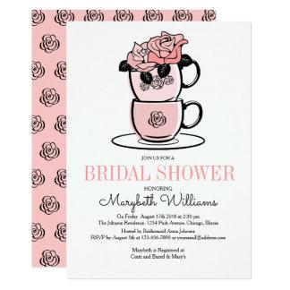 Teeteacup-Blumen-Brautparty-Einladungs-Karte 12,7 X 17,8 Cm Einladungskarte