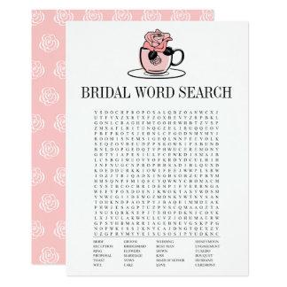 Teeteacup-Brautparty-Wort-Suchspiel-Karte 12,7 X 17,8 Cm Einladungskarte
