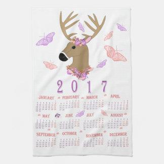 Teetuch mit 2017 Rotwild und Schmetterlings Handtücher