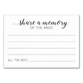 Teilen Sie ein Gedächtnis der Braut-Karten - Karte