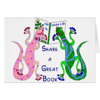 Teilen Sie ein gutes Buch Karte