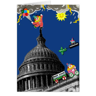 Teilen Sie eine wunderliche politische Grußkarte