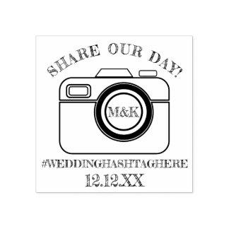 Teilen Sie unsere Tageskamera, die Hashtag Gummistempel