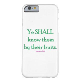 """Telefon-Kasten """"YE IOS 6 kennt sie durch ihr frui Barely There iPhone 6 Hülle"""