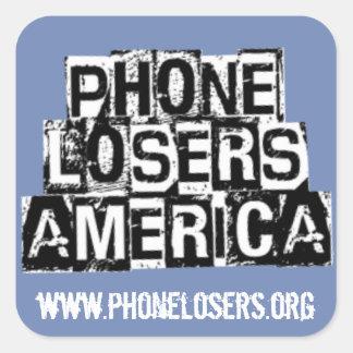 Telefon-Verlierer von Amerika durch Derreck Quadratischer Aufkleber