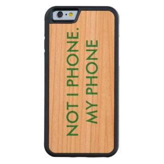 Telefonkasten mit frechem Titel: NICHT ICH RUFE Bumper iPhone 6 Hülle Kirsche