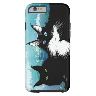 Telefonkasten mit zwei Katzen Tough iPhone 6 Hülle