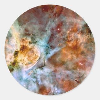 Teleskop-Raum-Foto der Carina-Nebelfleck NASAs Runder Aufkleber