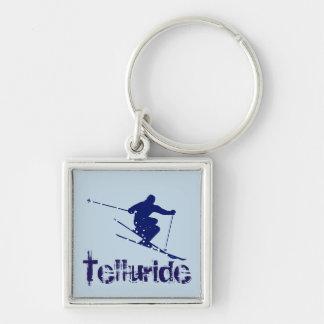 Tellurid-Colorado-Skifahrer Schlüsselanhänger