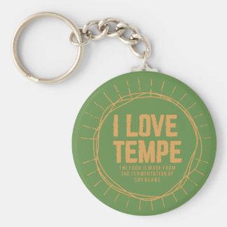 Tempe oder Sojabohnen Schlüsselanhänger