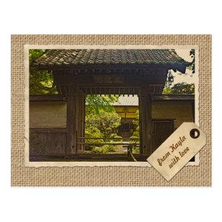Tempel-Vintages Papier Kamakura Japan Kencho-ji Postkarte