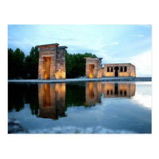 Tempel von Debod - Madrid Postkarte