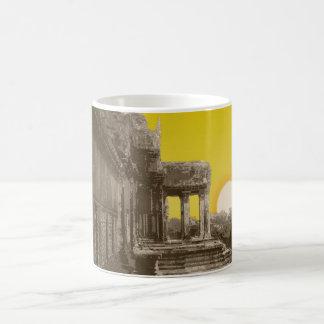 Tempelillustrationsentwurf Kaffeetasse
