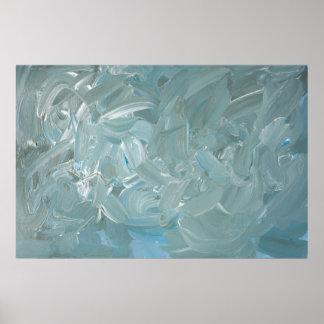 Tempestuous aquamarine abstrakte poster