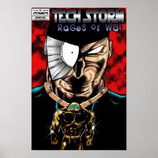 TEMPÊTE DE TECH : Rages de la guerre #2 (2) de l'a Poster