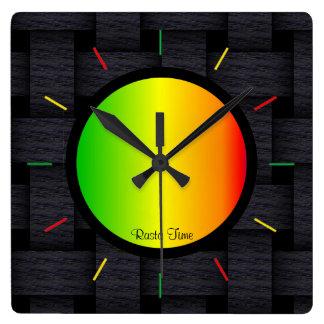 Temps de Rasta Horloge Carrée