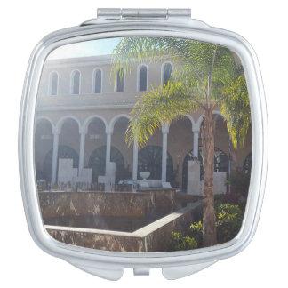 Teneriffa-Hotel im Sonnenschein-Vertrags-Spiegel Taschenspiegel