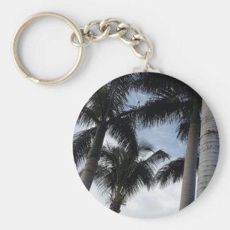 Teneriffa-Palme-Knopf-Schlüsselring Schlüsselanhänger