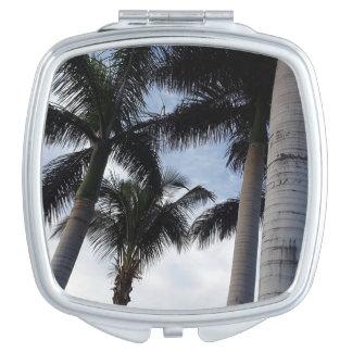 Teneriffa-Palme-kompakter Spiegel Schminkspiegel