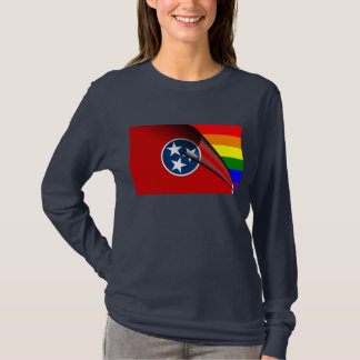 Tennessee-Flaggen-Gay Pride-Regenbogen T-Shirt
