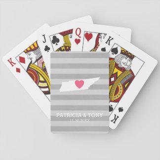 Tennessee-Karten-Zuhause-Staats-Liebe-optionales Spielkarten