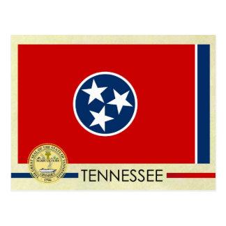 Tennessee-Staats-Flagge und Siegel Postkarte