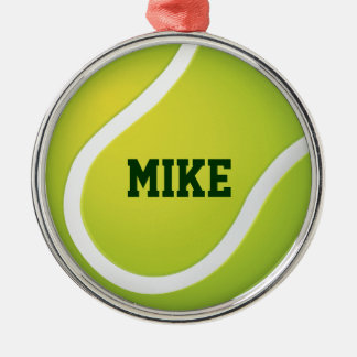 Tennis | addieren Namen Silbernes Ornament