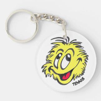 Tennis-Ball-Cartoon-Kreis Keychain Schlüsselanhänger