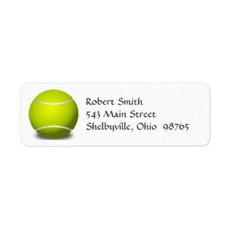 Tennis-Ball-Rücksendeadressen-Aufkleber Rückversand-Adressaufkleber