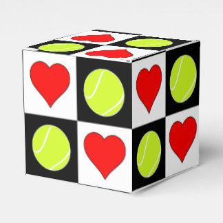 Tennis-Ball-u. des Herz-Tennis-Spielers Geschenkschachtel