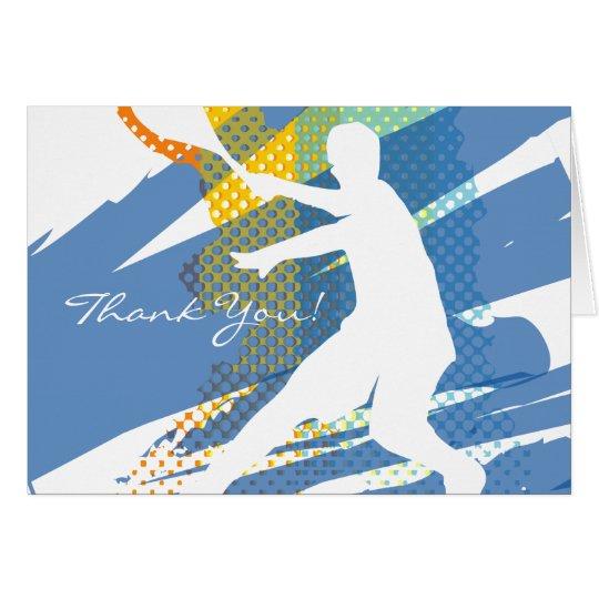 Tennis danken Ihnen, mit nettem Entwurf zu Grußkarte