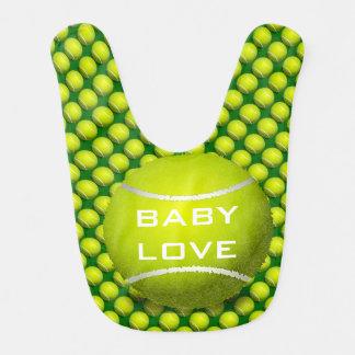 Tennis-Entwurfs-Baby-Schellfisch Lätzchen