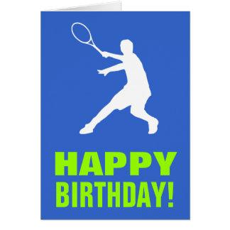 Tennis-Geburtstagskarte Karte