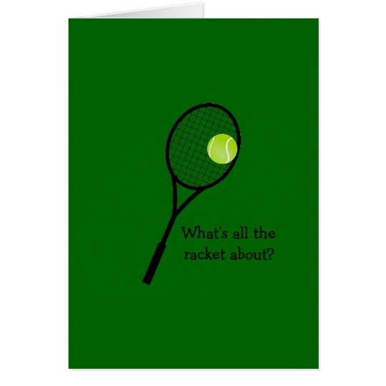 Tennis-Geburtstagskarte Mitteilungskarte