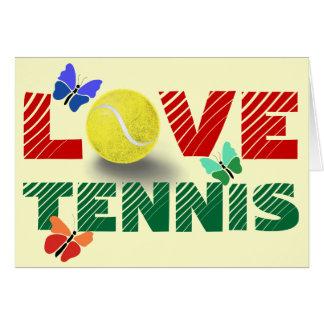Tennis-Liebe Grußkarte