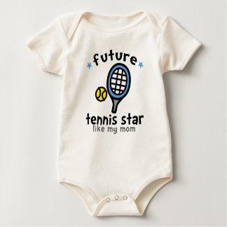 Tennis mögen Mamma Strampelanzug