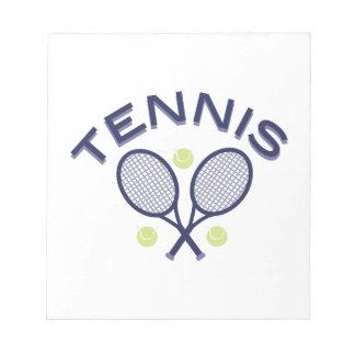 Tennis Notiz Block