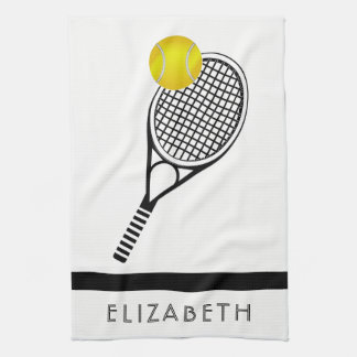 Tennis-personalisierter Name oder Monogramm Handtuch